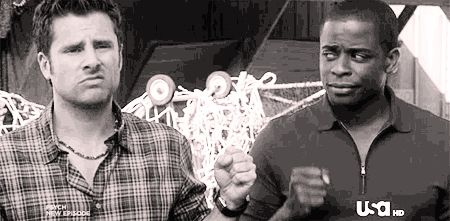 "Fist-bumping is better than high-fiving. (gif)| 27 Lessons That Everyone Can Learn From ""Psych""// I love this post. So much."