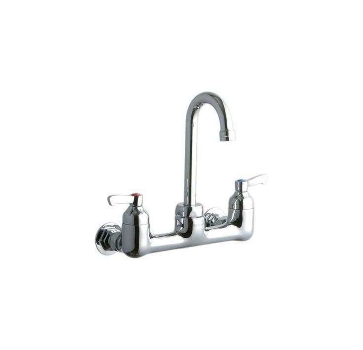 Elkay LK940GN04L2H Double Handle Commercial Faucet Chrome Faucet Laundry Double Handle