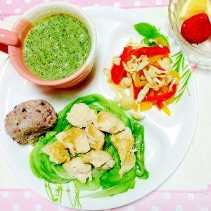 ダイエットに!イソフラボンのワンプレート レシピ・作り方 by ... ダイエットに!低タンパクのささみ蒸しランチプレート