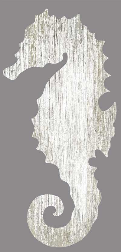 White Seahorse Silhouette from Suzanne Nicoll - Right
