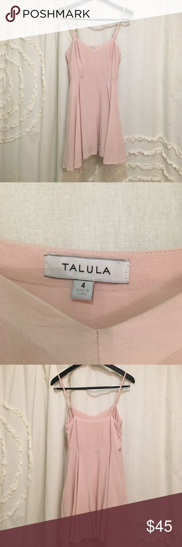 Talulah x Aritzia Blush Colored Dress Perfect for spring and summer! This Blush colored beauty has only been worn a handful of times. It is super soft and incredibly flattering! The bottom is very flowy and girly!  💕 Aritzia Dresses Mini