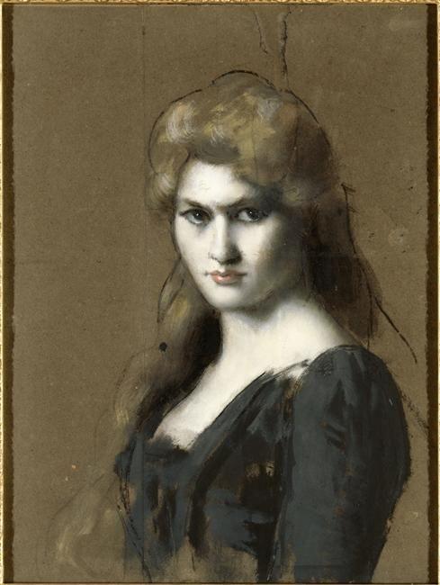 """""""Thérèse Bianchi, plus tard comtesse Joachim Murat"""" de  Jean Jacques Henner (1829-1905). Paris, musée Jean-Jacques Henner - Photo (C) RMN-Grand Palais / Gérard Blot"""