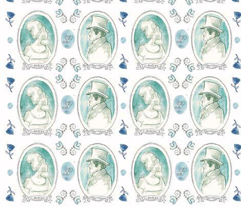 Jane Austen // Pride & Prejudice print // Spoonflower