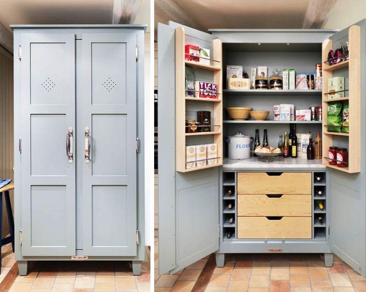Cool kitchen pantry cabinets freestanding Freistehende K chenschr nkeK che Speisekammer