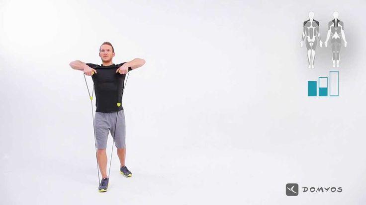 Exercice de tirage menton - Resistance Tube - Exercice 7 - DOMYOS