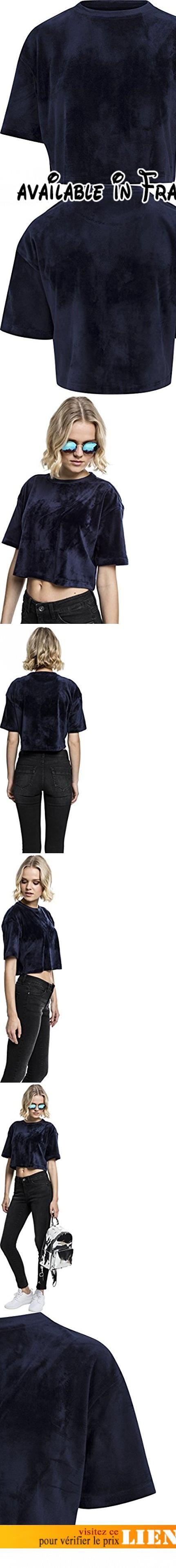 Urban Classics Ladies Velvet Short Kimono Tee, T-Shirt Femme, Blau (Navy 155), Medium. Urban Classics T-shirt Femme Ladies Velvet Short Kimono Tee pour Femme. marine. 93% Polyester, 7% Élasthanne. Coupe standard #Apparel #SHIRT