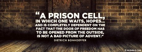 """""""A prison cell, in which one waits, hopes...... - Facebook Cover Photo"""