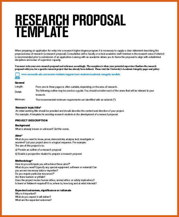Research Proposal Template Check More At Https Cleverhippo Org Research Proposal Template