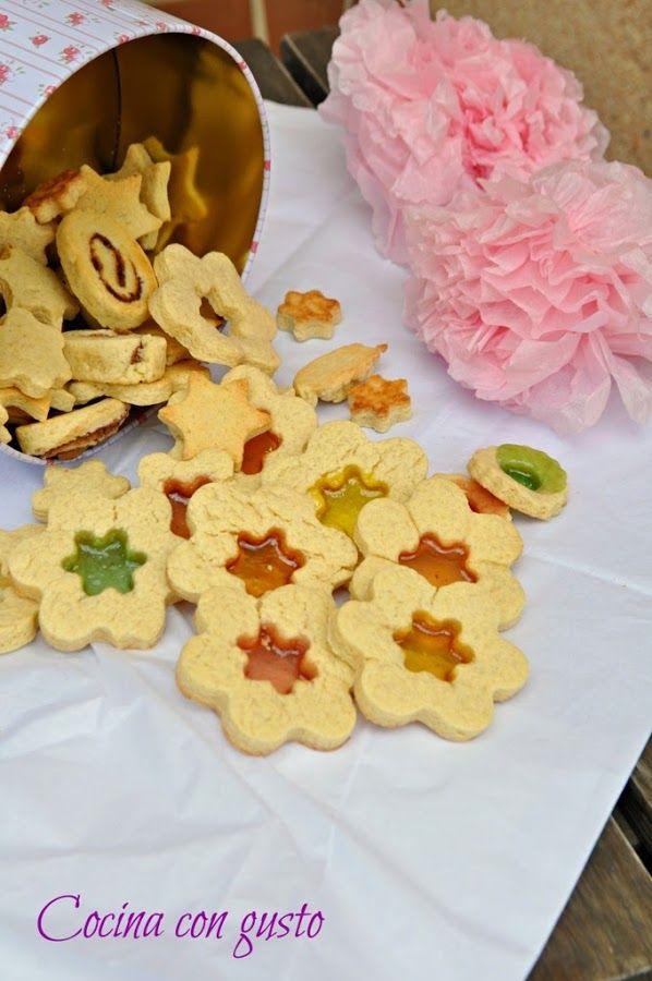 Mira qué fáciles de hacer y qué bien quedan estas galletas del blog COCINA CON GUSTO.