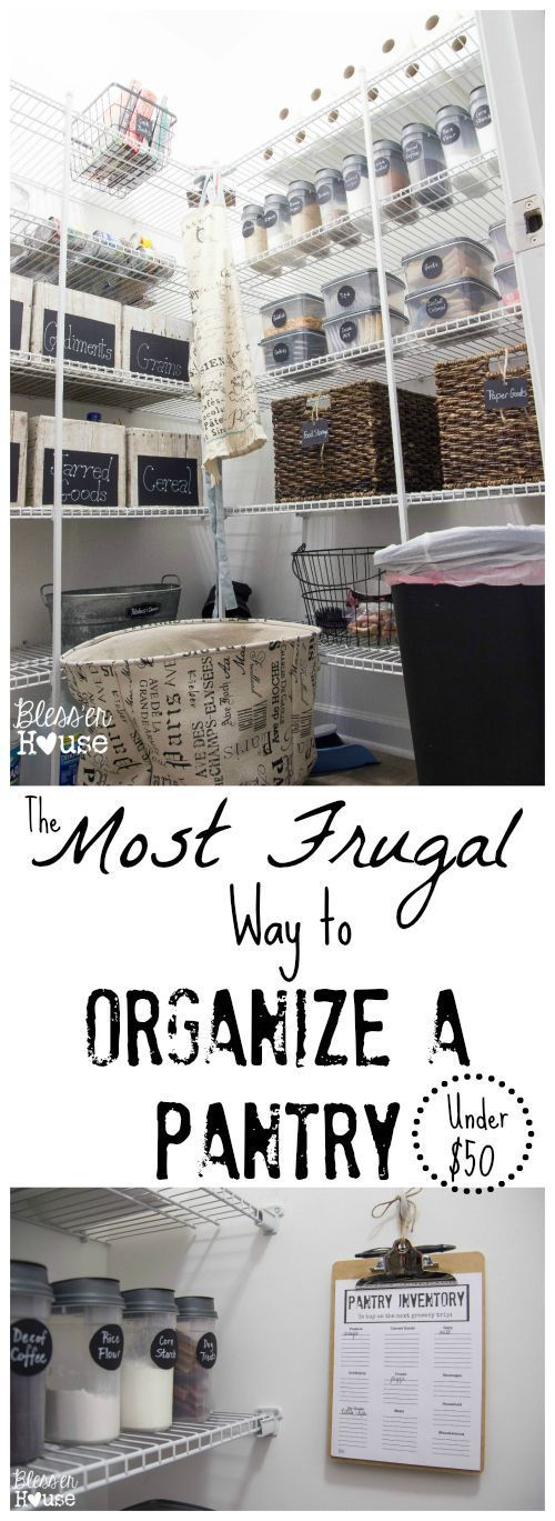 The Most Frugal Way to Organize a Pantry (+ Free Printable) - Bless'er House