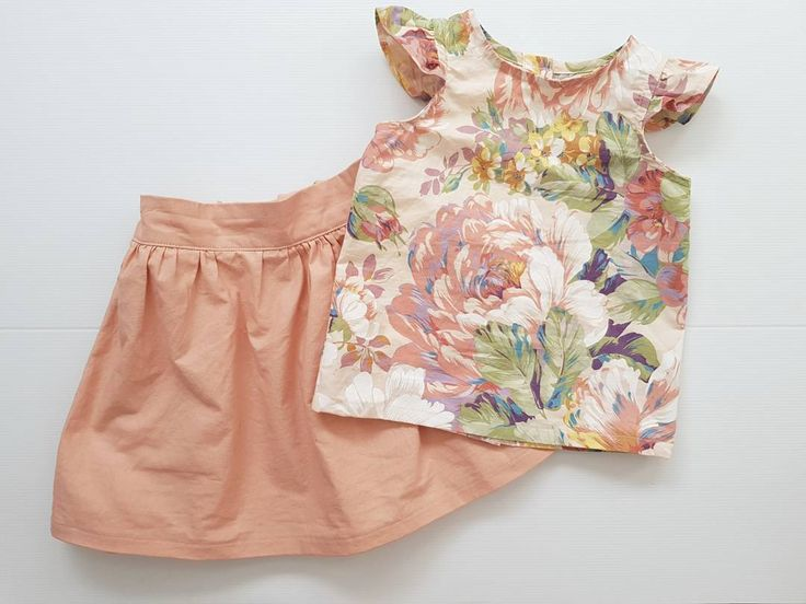 I can't believe I haven't shown you this sweet skirt and blouse set! Perfect for summer and when you need a special outfit
