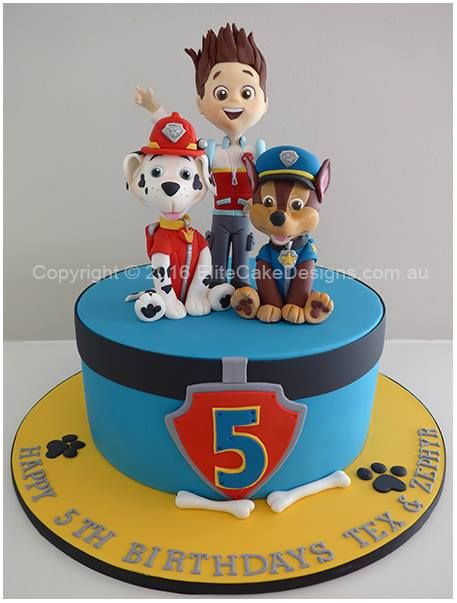 Paw Patrol Cake Toppers Perth