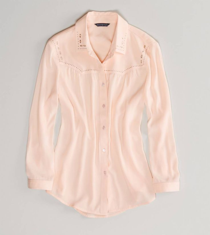 AE Studded Western Button-Down