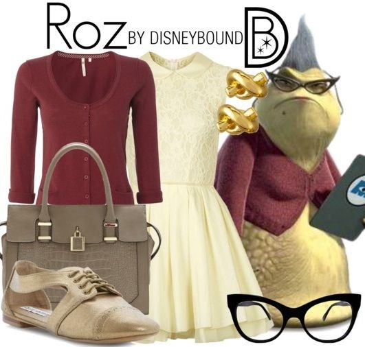 DisneyBound/Halloween Idea: Roz from Monsters Inc
