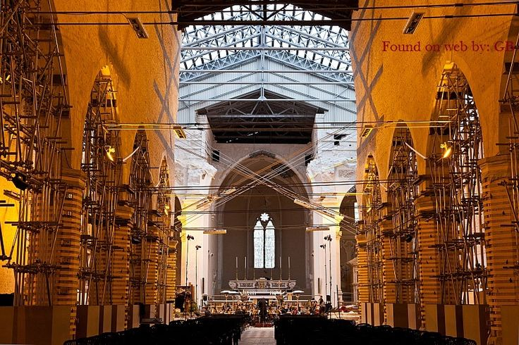 One of our churchs not jet rebuilt Collemaggio