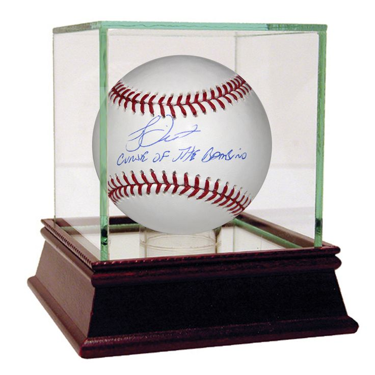 Bucky Dent Curse of the Bambino Inscription MLB Baseball (MLB Auth)  - Bucky Dent is a 2-Time World Series Champion infielder largely in part to his heroics in 1978. On October 2 1978 the Red Sox and Yankees squared off in a winner-take-all one-game playoff at Fenway Park the winner would head to the World Series. The Yankees had come from 8 games back in the standings to force the dramatic matchup. In the seventh inning up 2-0 Red Sox Pitcher Mike Torrez surrendered a 3-run HR to…
