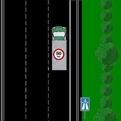 10 Mag de vrachtauto hier rijden?