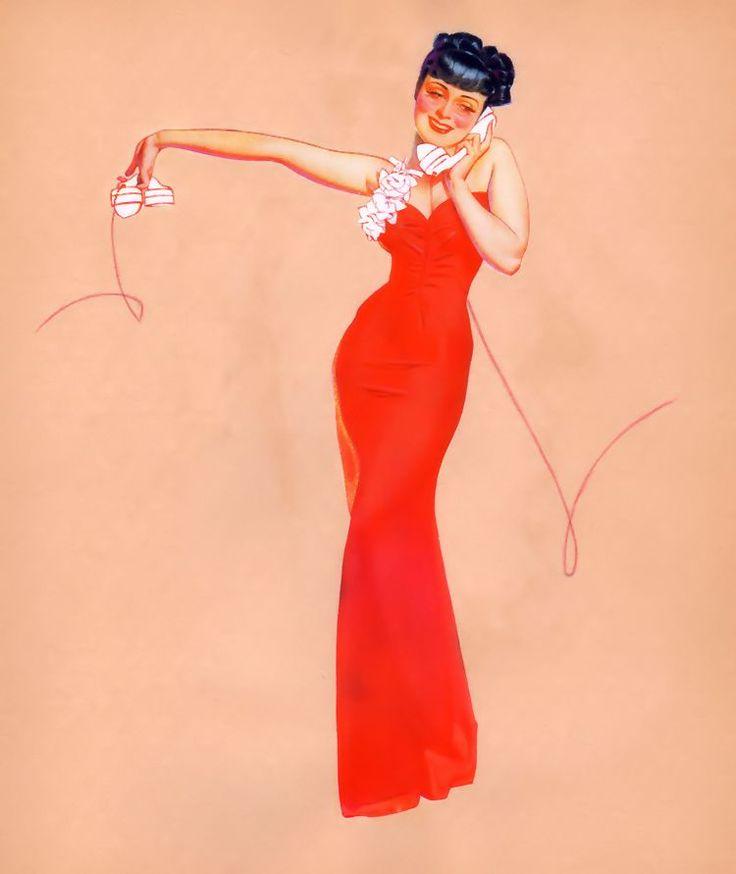 Calendar Art Models : Best the art of george petty images on pinterest