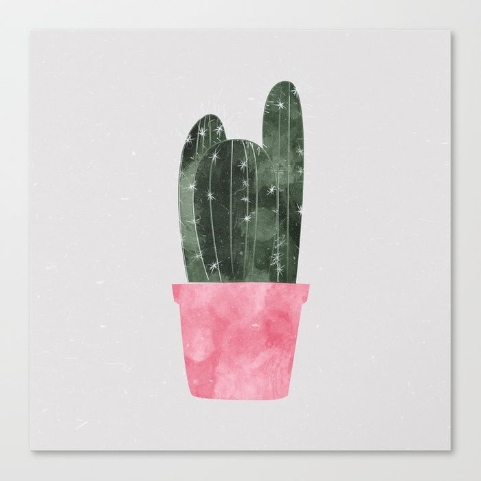 Buy cactus Canvas Print by hellograce. Worldwide shipping available at Society6.com. Just one of millions of high quality products available.