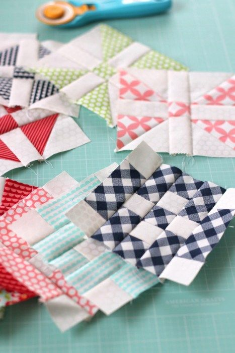 Patchwork Quilt Along blocks, hosted by the Fat Quarter Shop. New block tutorial every month.