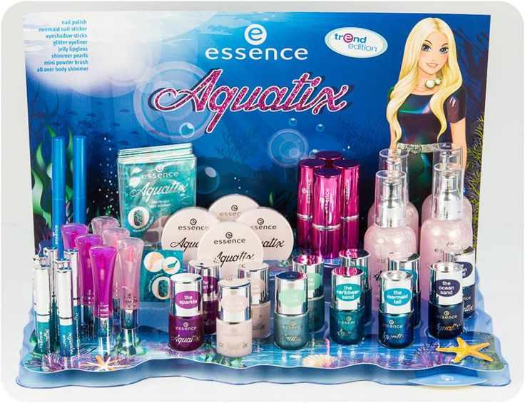 hi beauties, have you seen the aquatix trend edition in stores yet? the beauty pieces in this trend edition are as beautiful as the glittering blue colours of the ocean.  which product is your favorite?  #essence #cosmetics #beauty #trendedtion #ocean #blue #aquatix