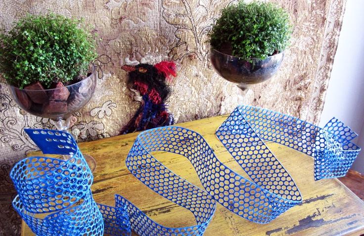 Arrimo intervenido/Escultura azul/Copones de musgo.EbanoDeco, Alonso de Córdova 3772.