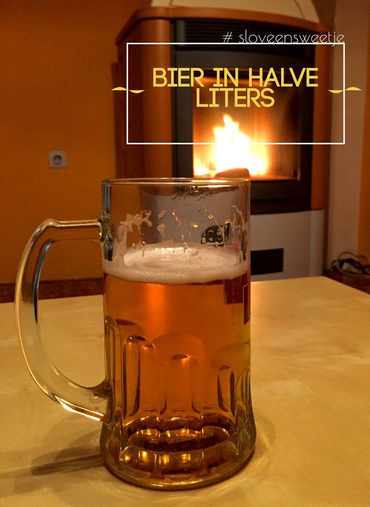 Mooi nieuws voor de dorstigen onder ons; in Slovenië komt het bier standaard in halve liters. #sloveensweetje