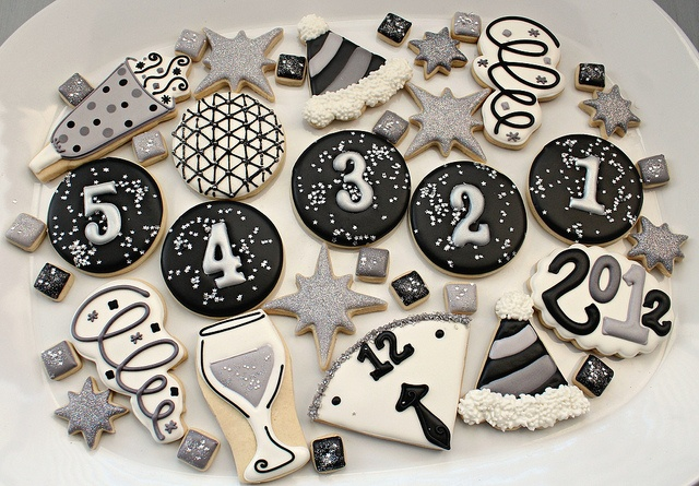 New Year Cookies 2012 by SweetSugarBelle, via Flickr