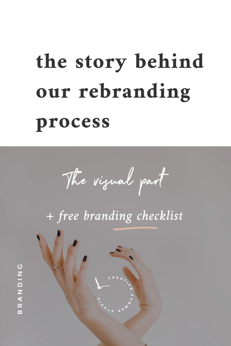 We know that rebranding can be a tough process, so we shared our story on the blog and the reasons behind our choices. If you feel overwhelmed or you don't know where to start, we create a free branding checklist to use it whenever you'll feel like it's time for new beginnings. rebranding branding process design style guide logos typography colors color palette WordPress theme blog layout