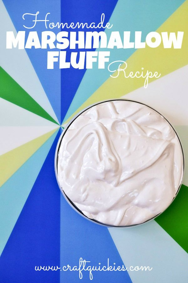 homemade marshmallow fluff!