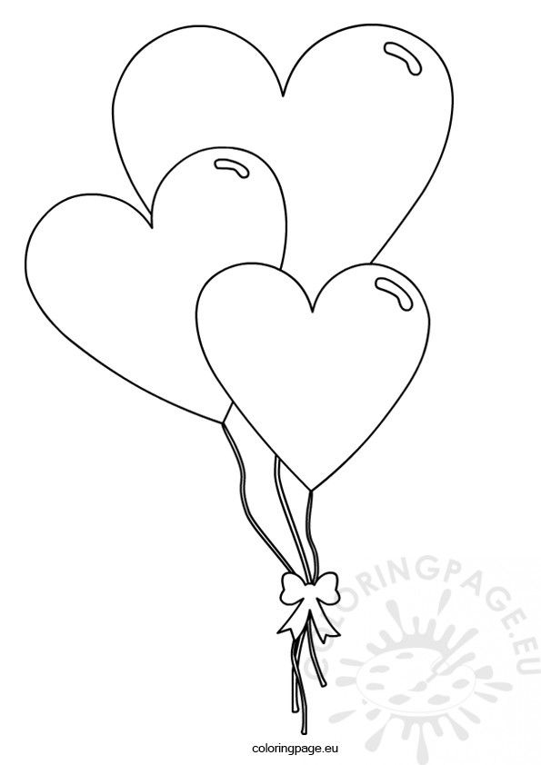 Heart Balloon Coloring Pages Coloring Pages Heart Balloons