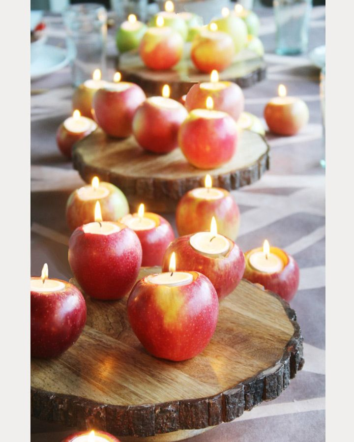 Creative cored apple candle holders ~ we ❤ this! moncheribridals.com