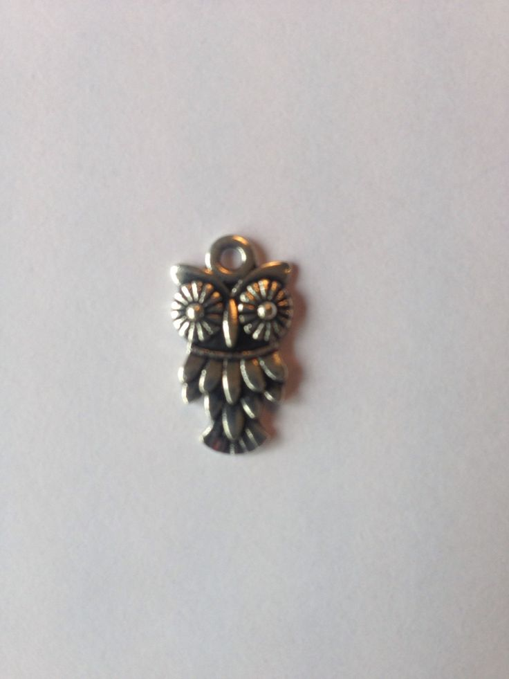 Owl Charm, Silver finish, for jewellery making -Small Owl Charms by FionasHobbyHut on Etsy