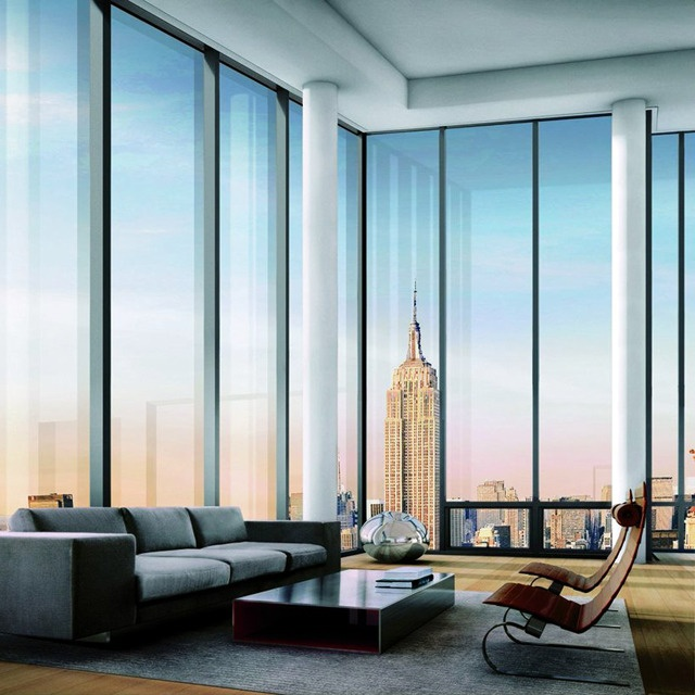 In (New York) residence.Dreams Big, Empire States Buildings, Interiors, The View, New York Apartments, Cars Girls, Windows, Newyork, Girls Style