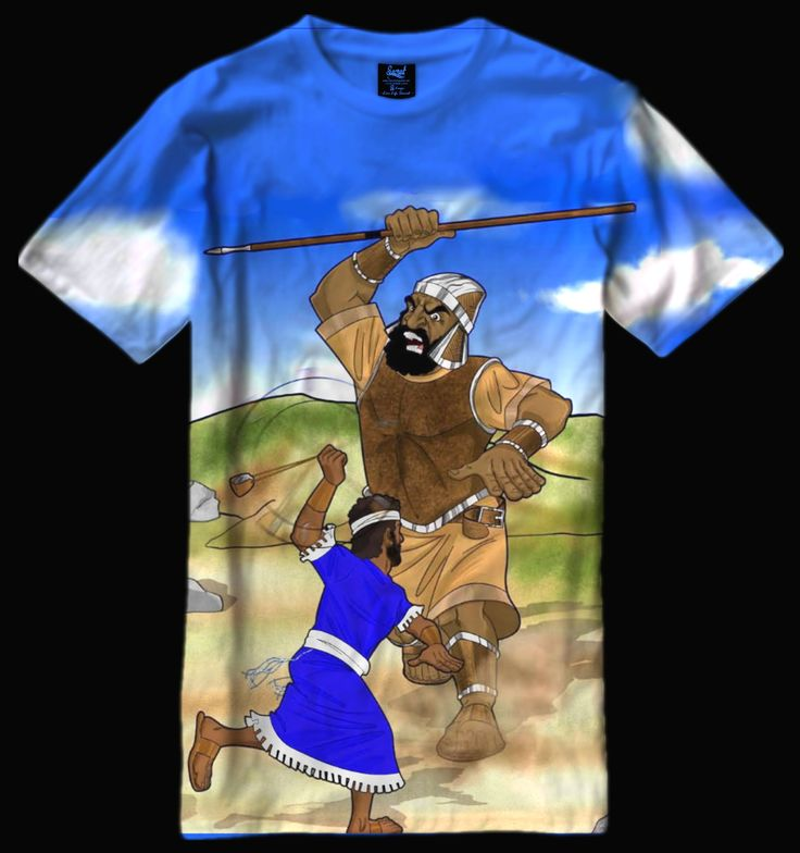 David vs Goliath t-shirt concept.