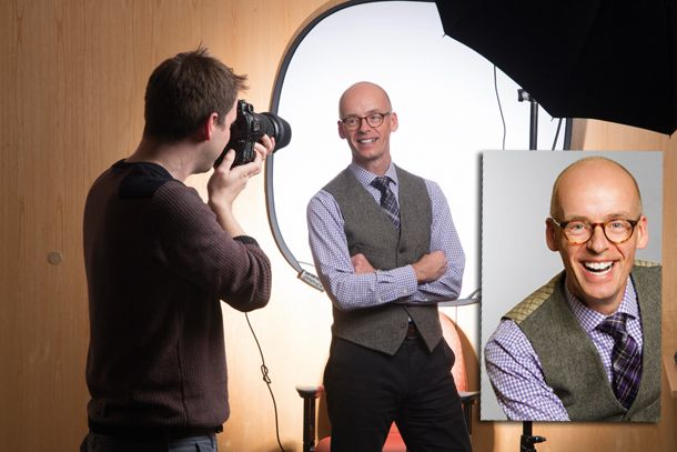Discover how to take a professional portrait with these headshot tips. Learn how to set up your camera to shoot head-and-shoulders portraits