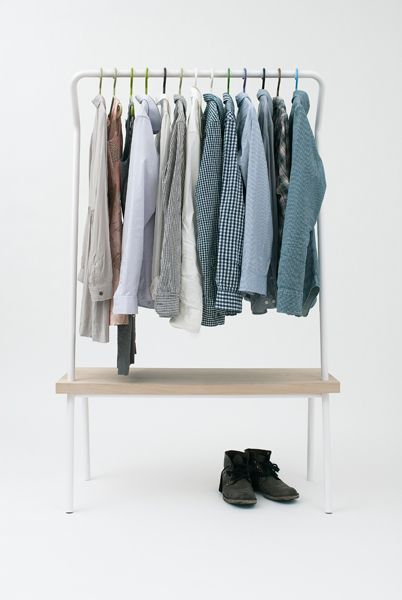 Vik & Fougere | bench rack. fairly simple to DIY?: Storage Spaces, Men Clothing, Boys Closet, Clothing Racks, Men Style, Benches Racks, Men Fashion, Thom Fouger, Men Outfit
