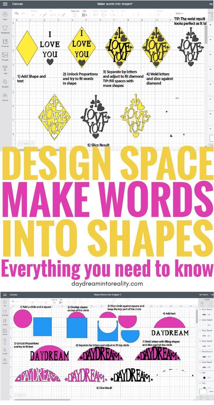 Edit Shapes in Cricut Design Space – Cut Out Text …