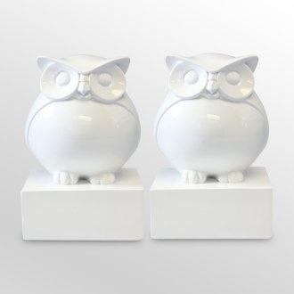 White owl bookends! #owl #bookends #decor #book #bird #hoot #wiseOffices Desks, Little Owls, Decor Ideas, Paper Weights, Book Nooks, White Owls, Bookshelf Ideas, Owls Bookends, Desks At Work
