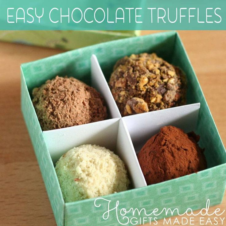 Cute truffle box and easy recipe with UK measurements