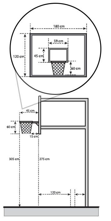 Gambar dan Ukuran Ring Bola Basket Lengkap