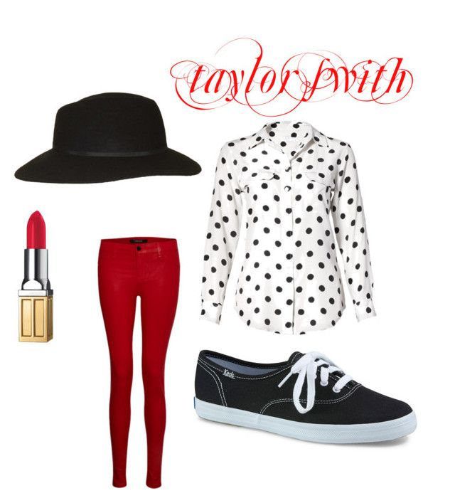 """""""taylor swith"""" by mariahmarie2003 ❤ liked on Polyvore featuring Equipment, J Brand, Keds, Topshop and Elizabeth Arden"""