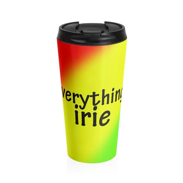Check out Everything Irie Stainless Steel Travel Mug Made with lots of love! ❤️  http://designs-by-taj.myshopify.com/products/everything-irie-stainless-steel-travel-mug?utm_campaign=crowdfire&utm_content=crowdfire&utm_medium=social&utm_source=pinterest