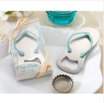Пляж Свадебные Подарки Флип-Флоп для бутылок способствует 50 шт./лот оптом Для свадебной партия выступает 43*90 мм