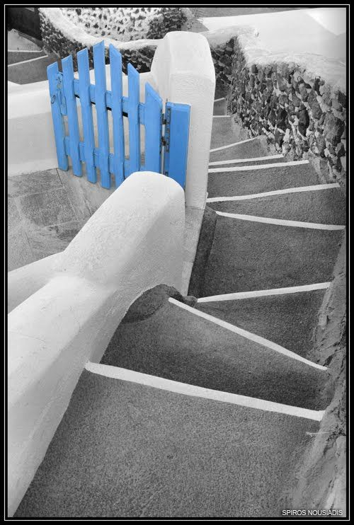 Santorini - The Front Door by Spiros Nousiadis