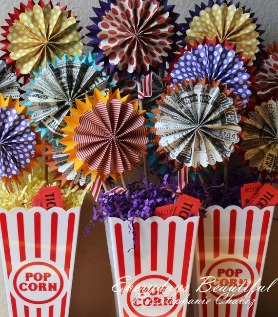 8 Party Rosette Flowers /Party decor Circus theme / carnival theme