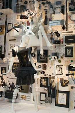 Pretty black and white window display