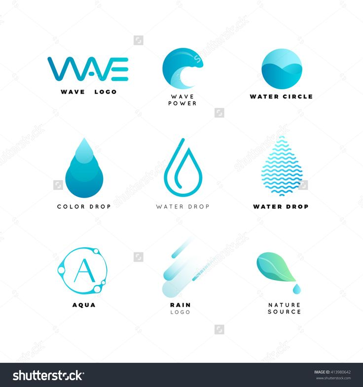 Abstract Logo. Water Logo. Wave Logo. Geometric Logo. Water Line Logo. Nature…