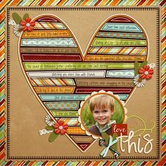 Use paper strips from scraps to create a beautiful scrapbook layout Makes them look like books in a library. Maybe a school page!