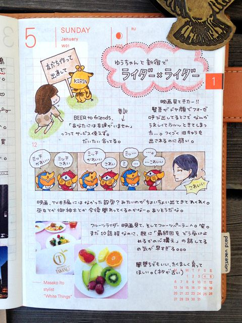 daily page:: Four-Frame Comic | sabao nikki #layout #Journal #hobonichi